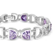 Amethyst Silver Bracelet - CB2311AM