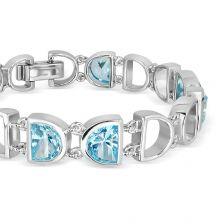 Blue Topaz Silver Bracelet - CB2311BT