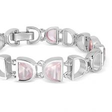 Rose Quartz Silver Bracelet - CB2311RS
