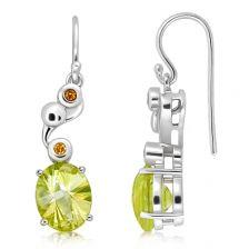 Lemon Citrine Silver Limited Hook Earrings - CE0671GG