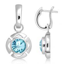 Blue Topaz Silver Limited Cleo Earrings - CE0861BT