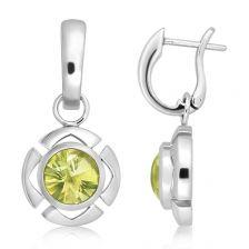 Lemon Citrine Silver Limited Cleo Earrings - CE0861GG