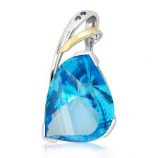 Swiss Blue Topaz One Of A Kind Silver Pendant - ON1545SW