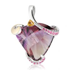 Ametrine One Of A Kind Silver Pendant - ON1581AT