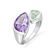 Amethyst Silver Ring - CR5141AM