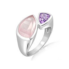 Rose Quartz Silver Ring - CR5141RS